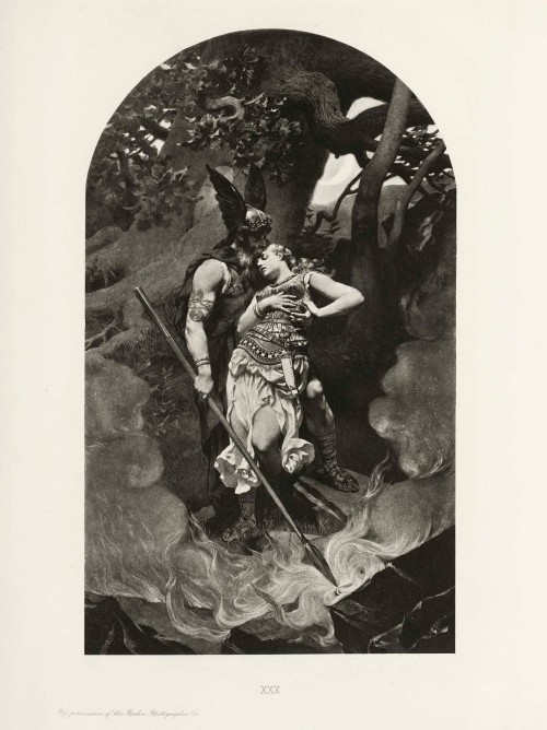 Wotan_takes_leave_of_Brunhild_(1892)_by_Konrad_Dielitz